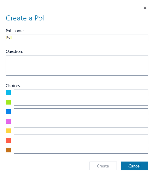 Skype for Business poll polling creator