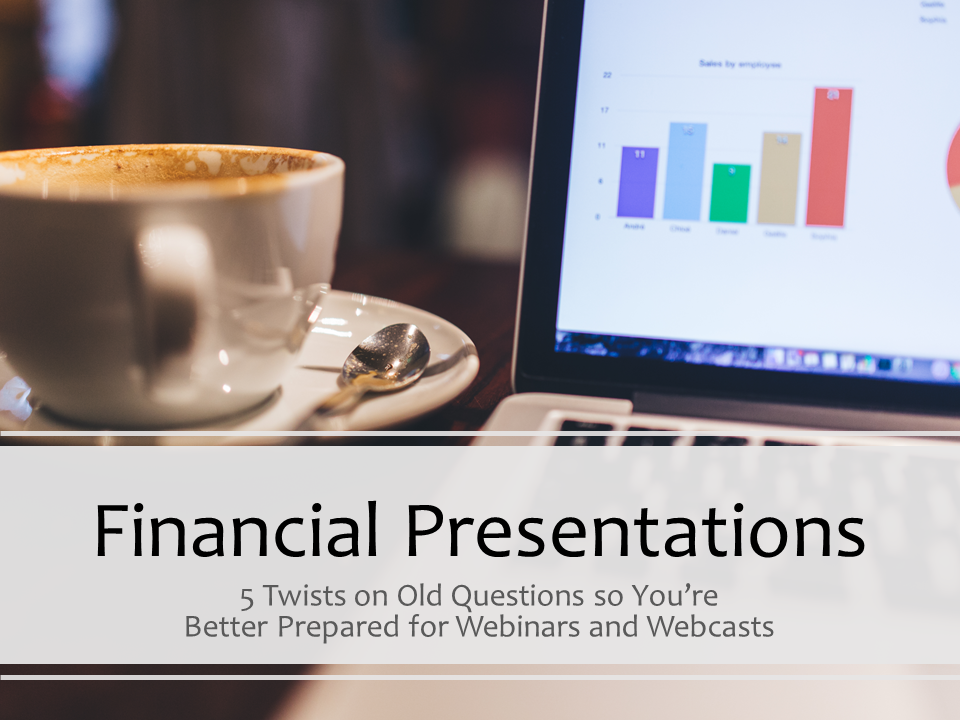 financial presentations in webinars, webcasts, and virtual classrooms