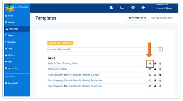 Screenshot: Default Templates dialog for E-publish.