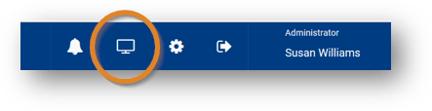 Screenshot: Portal Configuration option circled in orange.