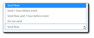Screenshot: Access Granted email schedule options.