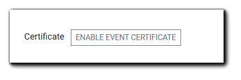 Screenshot: Enable Event Certificate button.