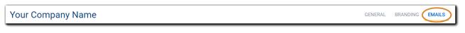 Screenshot: Portal Configuration: Emails section.