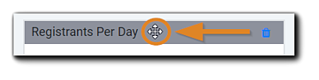 Screenshot: Widget bar with four-sided arrow highlighted for moving a widget.