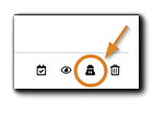 Screenshot: Redact Registrant icon highlighted.
