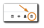 Screenshot: Cancel Registration icon highlighted.