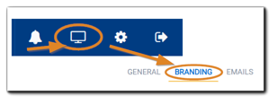 Screenshot: Portal Configuration, Branding section.