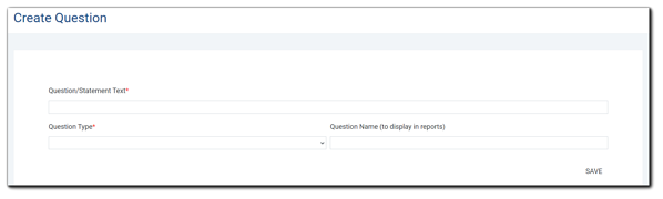Screenshot: Create Question dialog window.