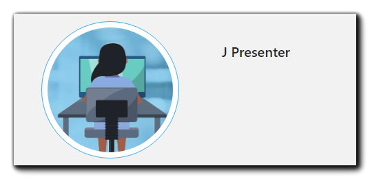 Screenshot: Presenter headshot section - how it appears on the Clean Registration Page Layout (round).