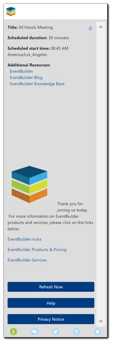 Screenshot: Information Panel sample.