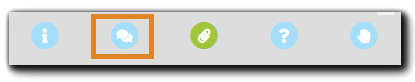 Screenshot: Attendee engagement tools with the Messages icon highlighted.