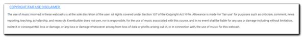 Screenshot: Copyright disclaimer.