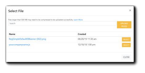 Screenshot: Select File dialog window,.