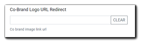 Screenshot: Co-Brand Logo URL Redirect field.