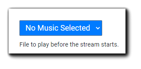 Screenshot: Pre-steam music selection dropdown menu.