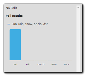 Screenshot: Attendee's view of poll results.