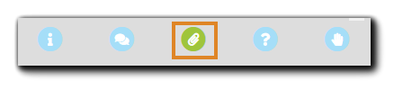 Screenshot: Attendee console navigation controls with the Files option highlighted.
