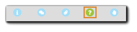 Screenshot: Attendee Console controls with the Polls option highlighted.