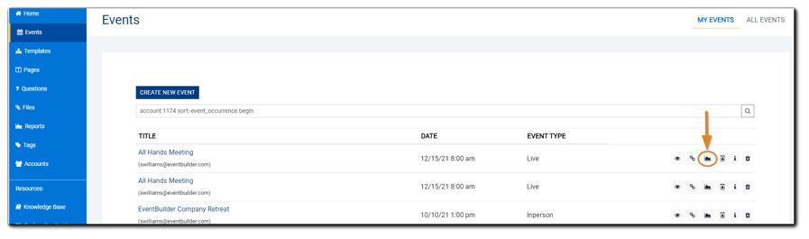 Screenshot: Main Reports dialog.