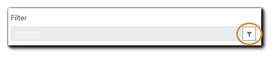 Screenshot: Filter symbol (funnel icon) for report data selection.