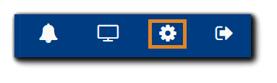 Screenshot: Gear icon