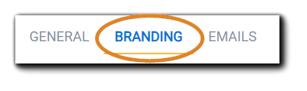 Screenshot: Portal Configuration options, 'Branding' highlighted.