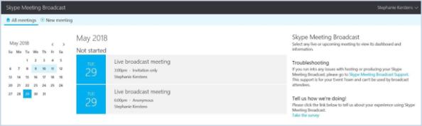 Skype Meeting Broadcast?