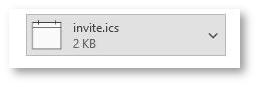 Outlook calendar invite file (invite.ics).
