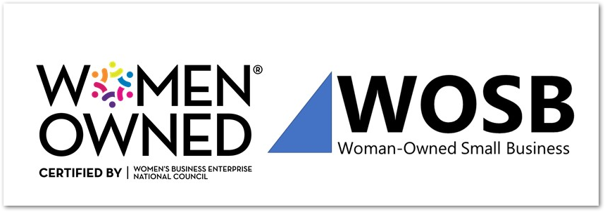 Screenshot: Women Owned Business Certification Seal, Woman-Owned Small Business Certification Seal.